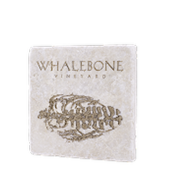 White Marble - Gold Fossil Coaster